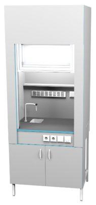 Шкаф вытяжной с сантехникой ШВ НВК 900 ЭПОК+ (900x716x2200)