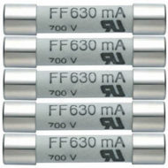 Комплект плавких предохранителей 630mA/600V (0590 0007)